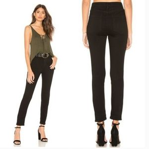 Free People High Rise Black Skinny Jeans